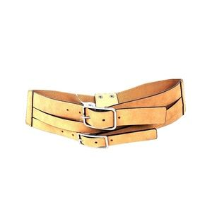 NWT Express Tan 3 Buckle Belt, size M/L